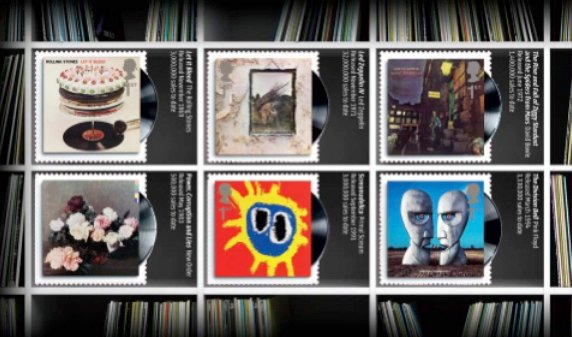 Click to enlarge - Pink Floyd Roal Mail Stamps 2010 with Blur, Coldplay, Led Zeppelin and The Clash amongst others.