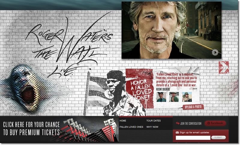 Roger Waters Wall Live Tour 2010 Tickets