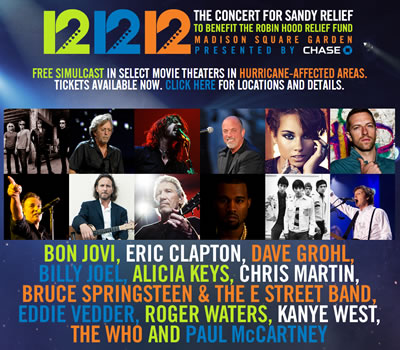 12.12.12 Roger Waters New York Benefit Concert