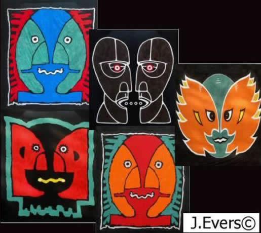 5 paintings
