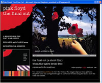 Click to visit the updated Official Pink Floyd site