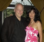 David Gilmour and wife Polly Sampson