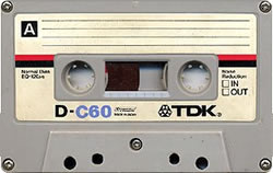 An old TDK C60 cassette tape!