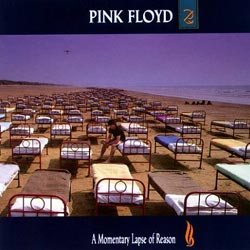 Pink Floyd's A Momentary Lapse of Reason Front Cover as designed by Storm Thorgerson.