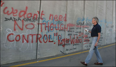 Roger Waters Graffitis Wall in Palestine!