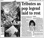 Cambridge Evening News Article - Burial  Cremation/Burial Of Roger Keith Syd Barrett