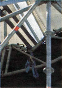Destroyed scaffolding