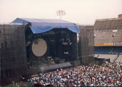 Pink Floyd's stage at Estadio Sarria Espanol FC, Barcelona, Spain on 20-08-1988