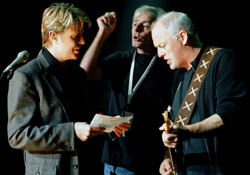 David Bowie, Richard Wright and David Gilmour