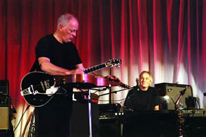 David Gilmour and Richard Wright performing at David's 60th Birthday party.