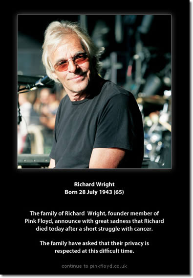 PinkFloyd.co.uk Screen Capture of Richard Wright