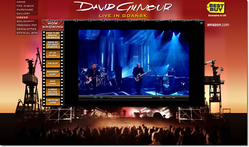 Gilmour's Website Updated with Remember A Day on Jools Holland Video