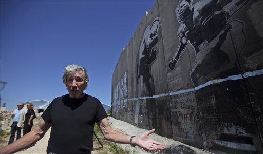 Roger Waters visiting Wall in West Bank