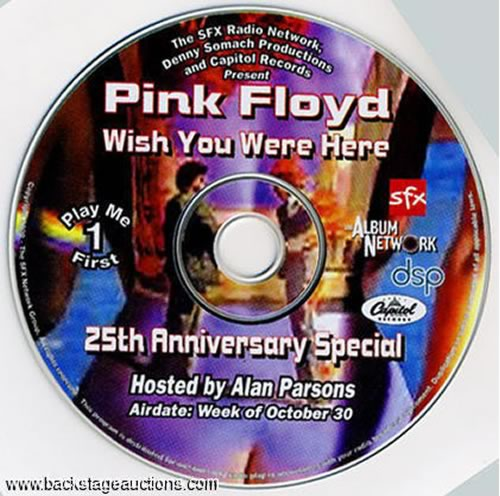 SFX Radio Wish You Were Here Special with Alan Parsons