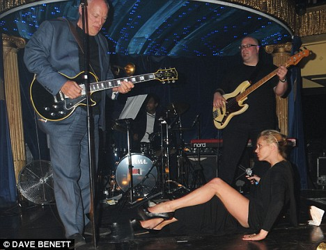 David Gilmour and Kate Moss at Cafe de Paris in London for Hoping Foundation charity fundraiser.