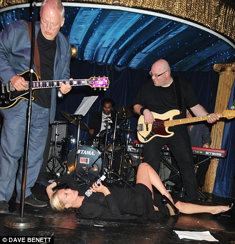David Gilmour and Kate Moss in Hoping's Got Talent Fundraiser