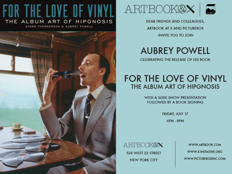 Aubrey Powell Hipgnosis New York Book Signing Flyer with Location and Times