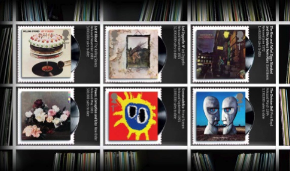 Pink Floyd and Other Royal Mail Stamps