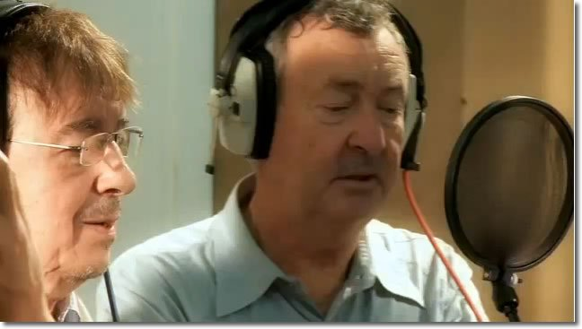 Nick Mason happily doing some singing (All You Need is Love - Children in Need 2009)