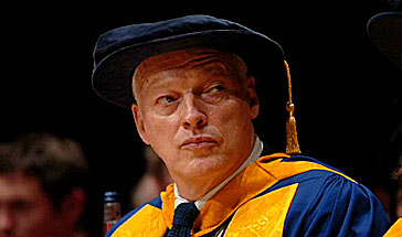 David Gilmour receiving Honorary Degree from Anglia Ruskin University in Cambridge