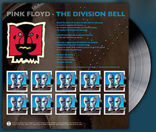 Pink Floyd Royal Mail Stamps March 6th 2010