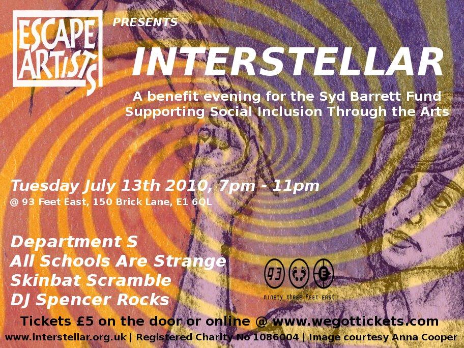Interstellar Event - Syd Barrett fund raiser
