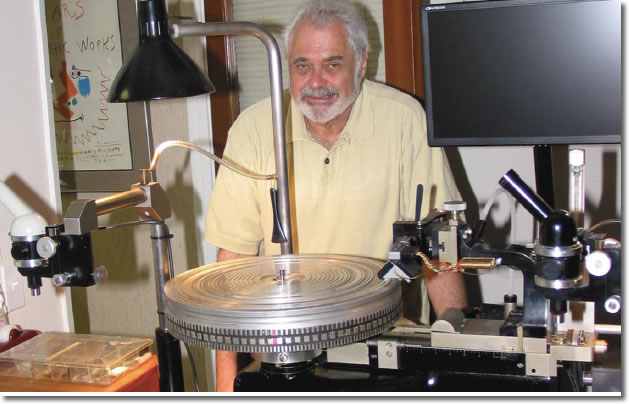 Doug Sax of The Mastering Lab with his Vinly Cutting Lathe