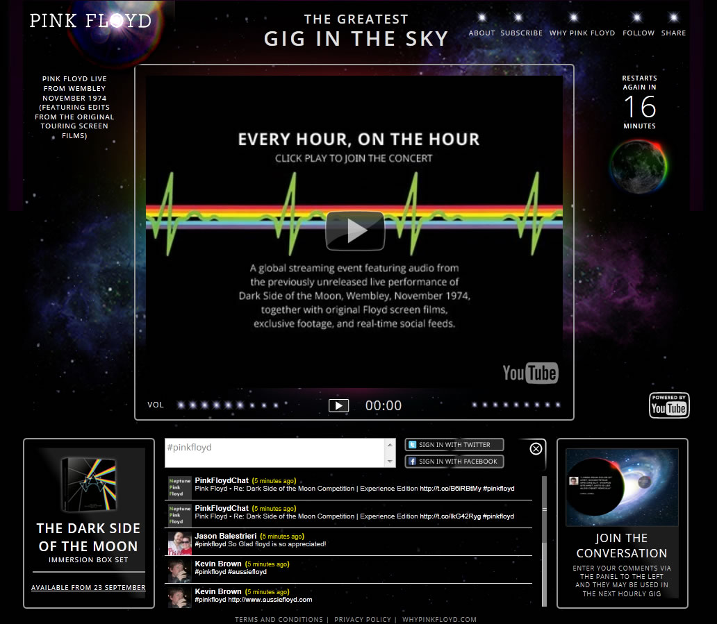 Greatest Gig in the Sky | Media Player