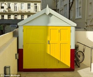 David Gilmour's Bright Yellow Beach Hut