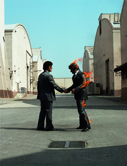 Pink Floyd   Wish You Were Here Cover   Big and Small Exhibition   Storm Thorgerson