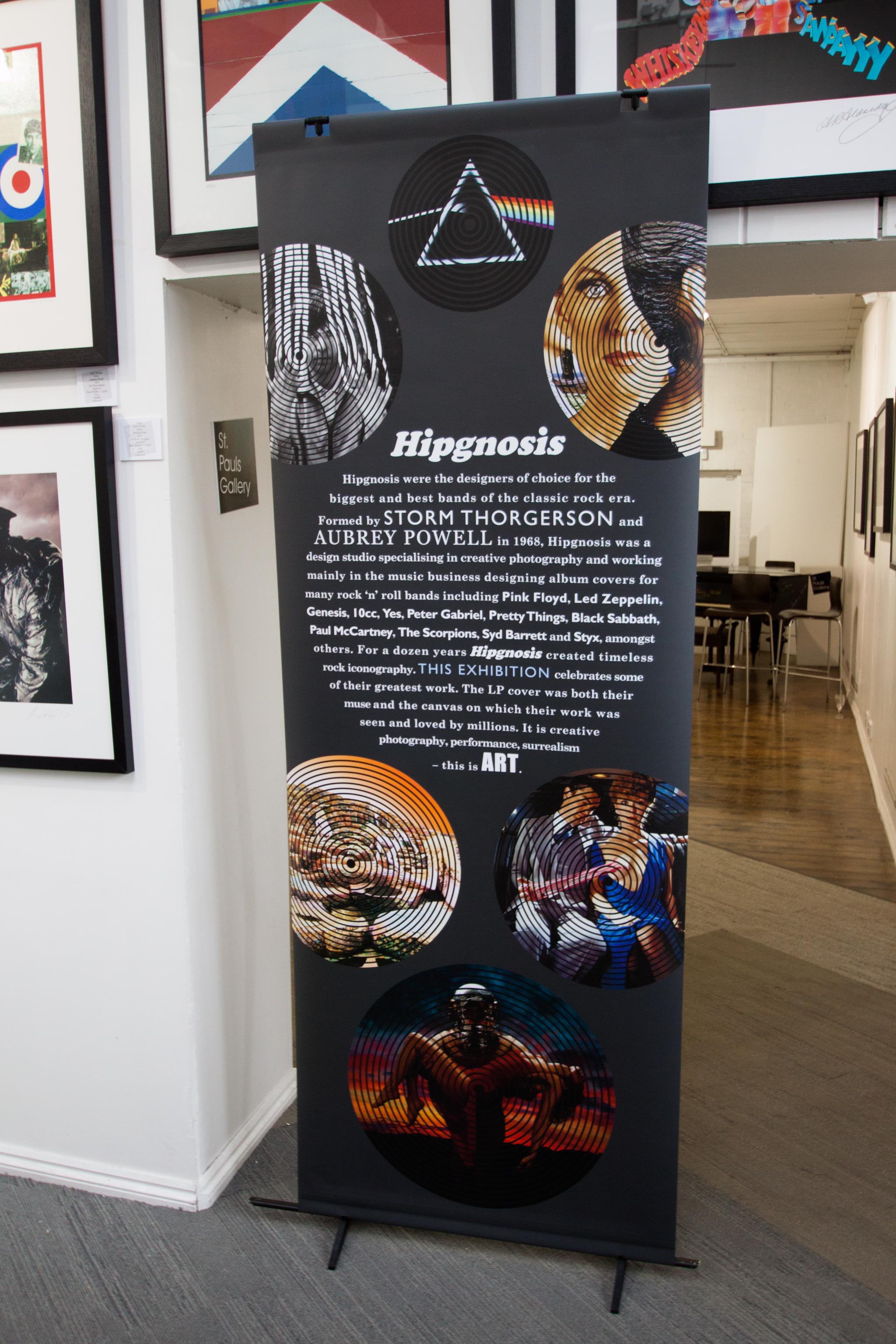 42 - Hipgnosis Display Board St Pauls Gallery
