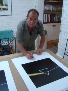 "Aubrey ""Po"" Powell from Hipgnosis Signing Darkside Cover Art"