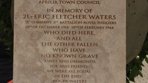 Eric Fletcher Waters Plaque
