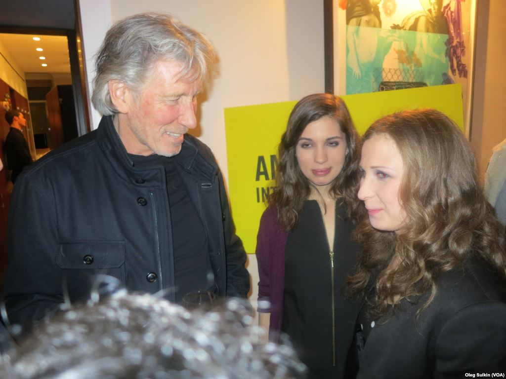 Roger Waters with Nadia and Masha from Pussy Riot