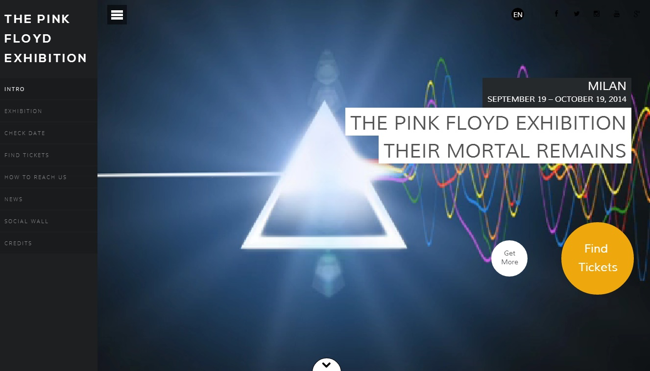 Tickets for the pink floyd exhibition their mortal for Pink floyd exhibition