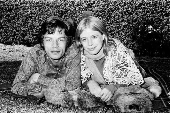 Mick Jagger Marianne Faithfull