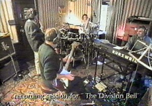 Pink Floyd during The Division Bell recording sessions