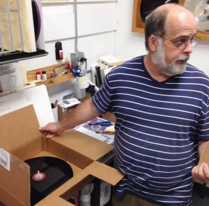 Pink Floyd The Endless River Vinyl Master getting ready to go into production.