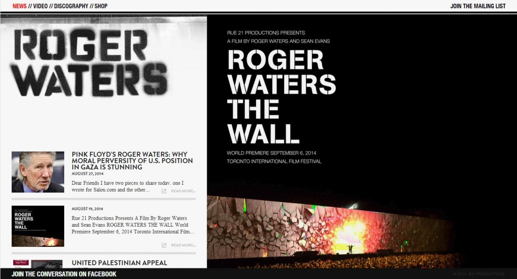 FOR SALE Pink Floyd Roger Waters 2012 The Wall Live