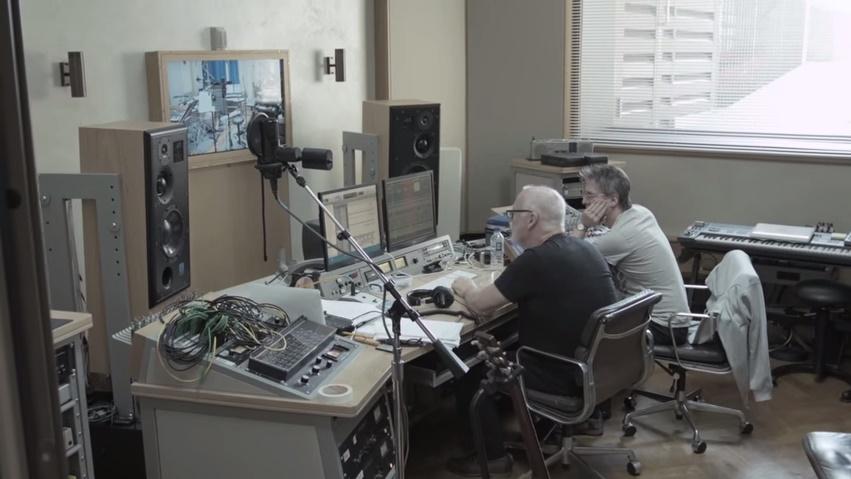 David Gilmour in Studio on Endless River Album