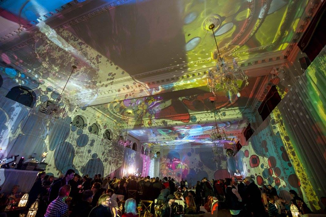 Light Show at Pink Floyd Album Launch at Porchester Hall in London, England 2014