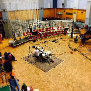 Nick Mason Drumming in Abbey Road Studios