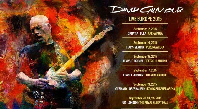 David Gilmour 2015 Tour and Album Officially Announced