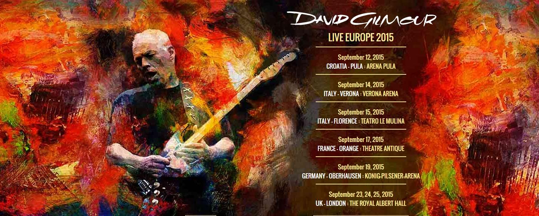 David Gilmour Tour 2015 Europe