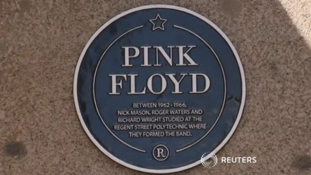 Pink Floyd Plaque at Regent Street Polytechnic