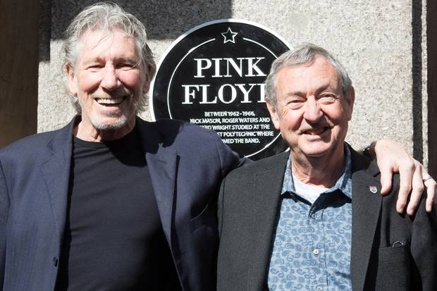 Roger Waters and Nick Mason Regent Street Polytechnic Plaque