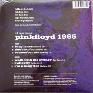 Pink Floyd Recordings 1965 - 0 Rear