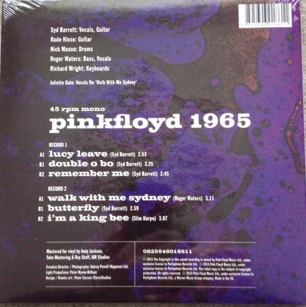 Pink Floyd Recordings 1965 - 0 Rear