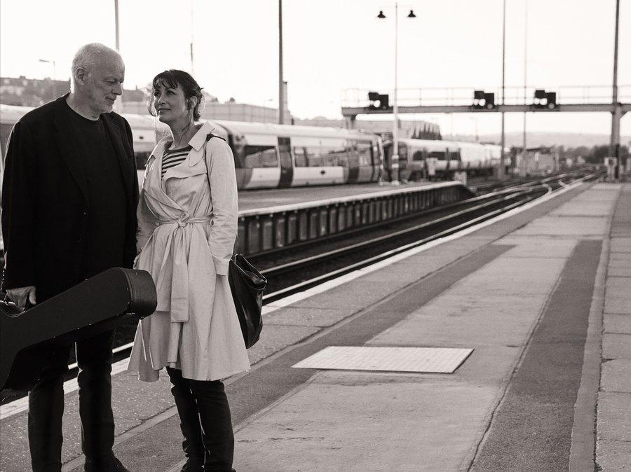 Writer Polly Samson with musician husband David Gilmour