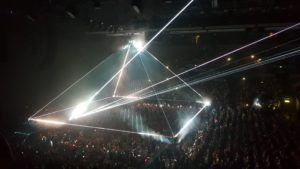 Roger Waters Tour Prism from Dark Side of the Moon in Audience
